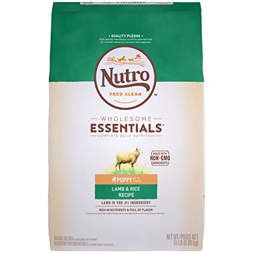 NUTRO WHOLESOME ESSENTIALS Natural Puppy Dry Dog Food Lamb & Rice Recipe, 15 lb. Bag