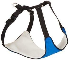 Guardian Gear Nylon Lift & Lead 4-in-1 Dog Harness, Large, Blue