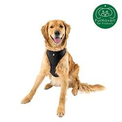 Furhaven Pet Dog Collar   Adjustable Padded Lightweight Breathable Mesh Pet Harness Dog Walking Vest for Dogs & Cats, Black, Extra Large
