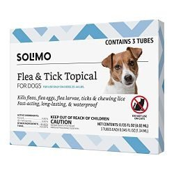 Amazon Brand – Solimo Flea and Tick Topical Treatment for Dogs, For Medium Dogs (23-44 pounds), 3 Doses